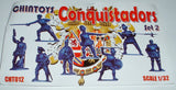 CHINTOYS cht012 CONQUISTADORS SET 2. 16th Century Spanish. 1/32 SCALE 54-60mm
