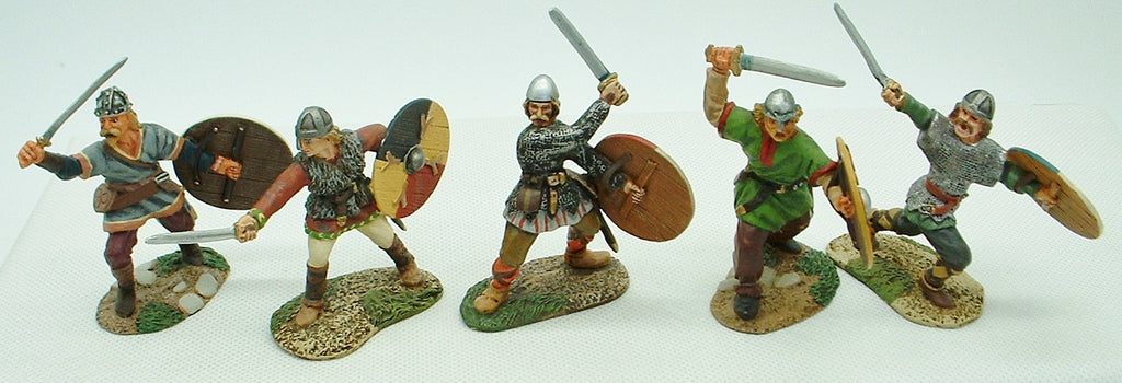Conte Collectibles - Vikings x 5 - Painted Metal 1/32 Scale (c.54mm)