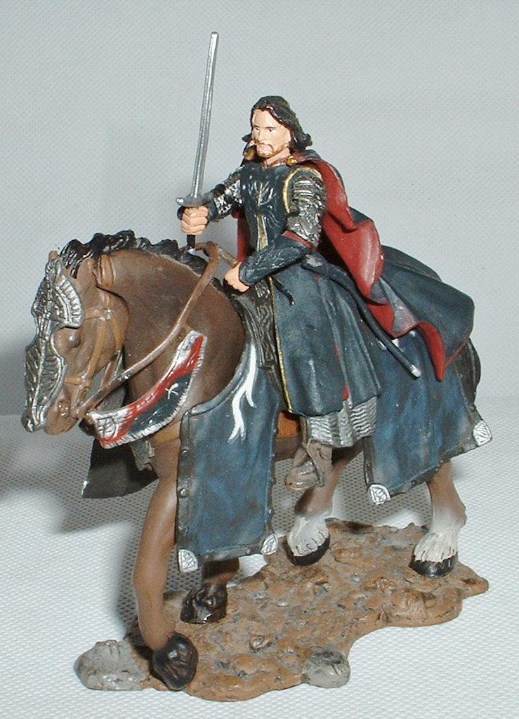 ARAGORN THE KING. ELESSAR. LORD OF THE RINGS AOME (ARMIES OF MIDDLE EARTH). Used