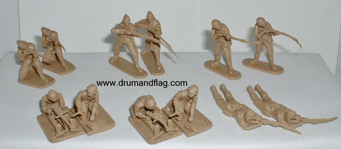 CTS - WW2 Japanese Infantry. 12 figures in 6 poses. 1/32 scale plastic.