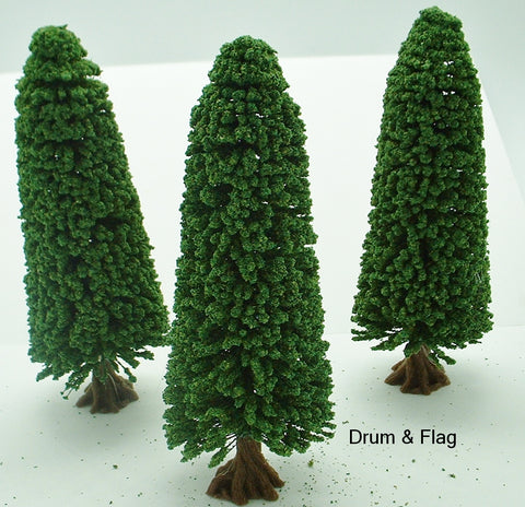 JAVIS OLD PINE TREES X 3. Wargaming & Railway 16cm H X 6cm W.