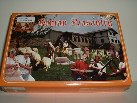 LINEAR-B Set No 77 ROMAN PEASANTRY. 1/72 scale plastic.