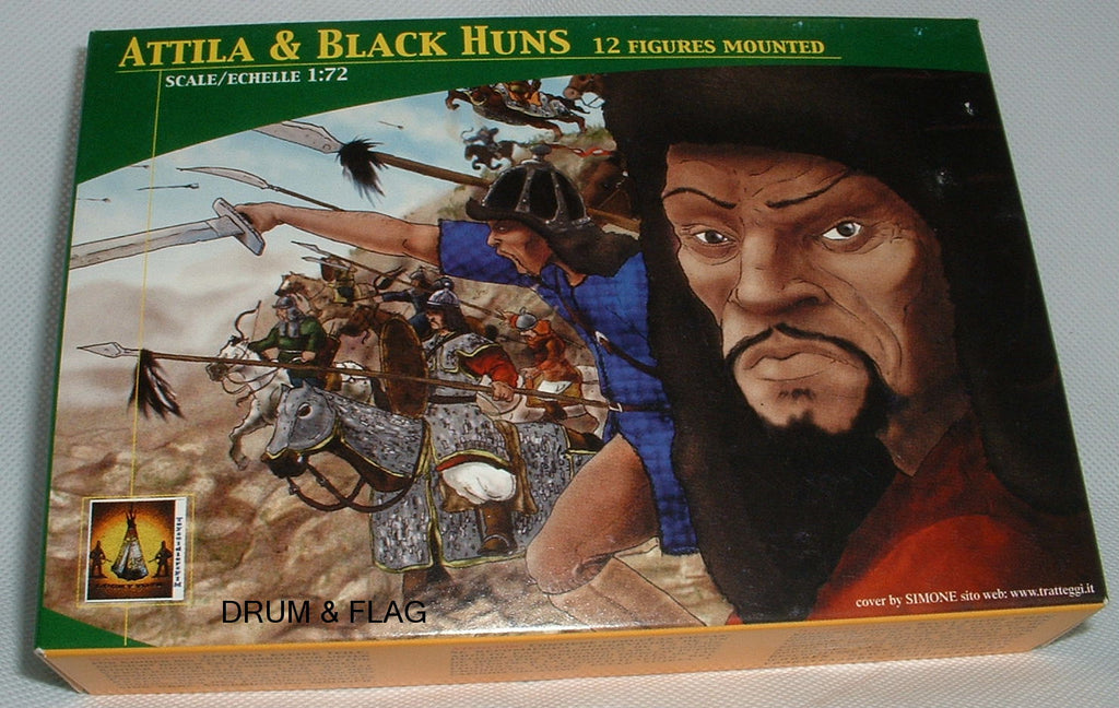 LUCKY TOYS TL000. ATTILA & THE BLACK HUNS X 12. MONGOLS. 1:72 SCALE. Boxed