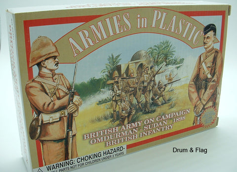 ARMIES IN PLASTIC #5421 - BRITISH ARMY INFANTRY OMDURMAN SUDAN 1898. 1/32 SCALE