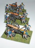 Airfix / Italeri /Esci Napoleonic British Horse Artillery 3 Cannon Battery - Painted - 1/72 Scale. Used.