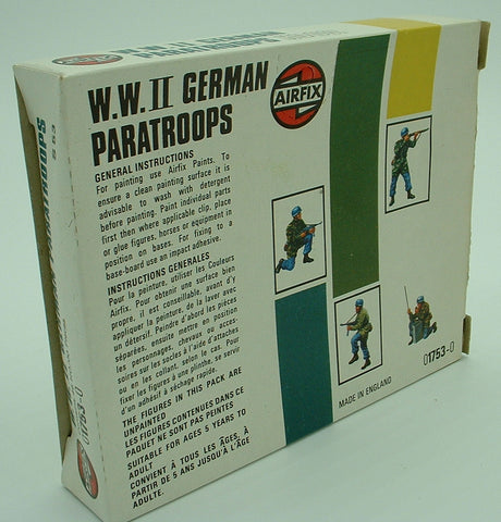 AIRFIX 01753 - WWII German Paratroops - 46 Figures  1:72 Scale  Pre-owned  Vintage