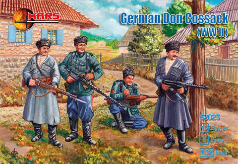 Mars 32023. Don Cossacks WWII. Plastic 1/32 Scale Figures.