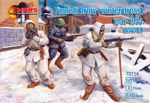 Mars 72114 Finnish Army Winter Dress (1942-44). WWII. 1/72 scale plastic figures