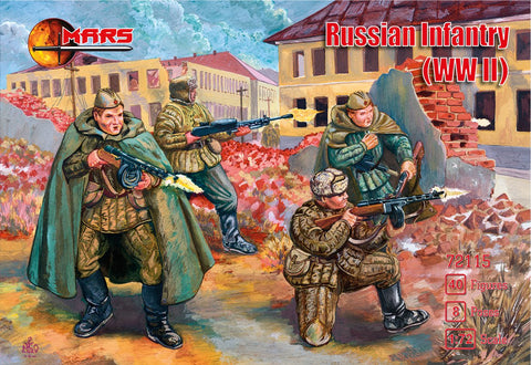 Mars 72115. Russian Infantry WWII. Plastic 1/72 Scale Figures