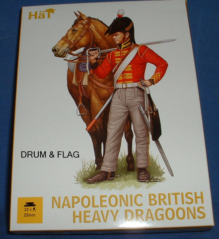 HAT 28028. NAPOLEONIC BRITISH HEAVY DRAGOONS. 25MM (NOT 1/72!!!)