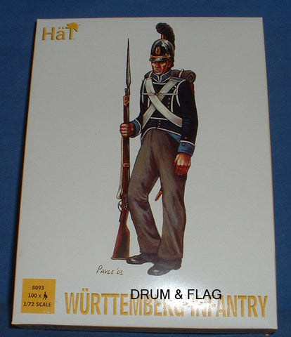 HAT 8093 NAPOLEONIC WURTTEMBERG INFANTRY. 1/72 SCALE