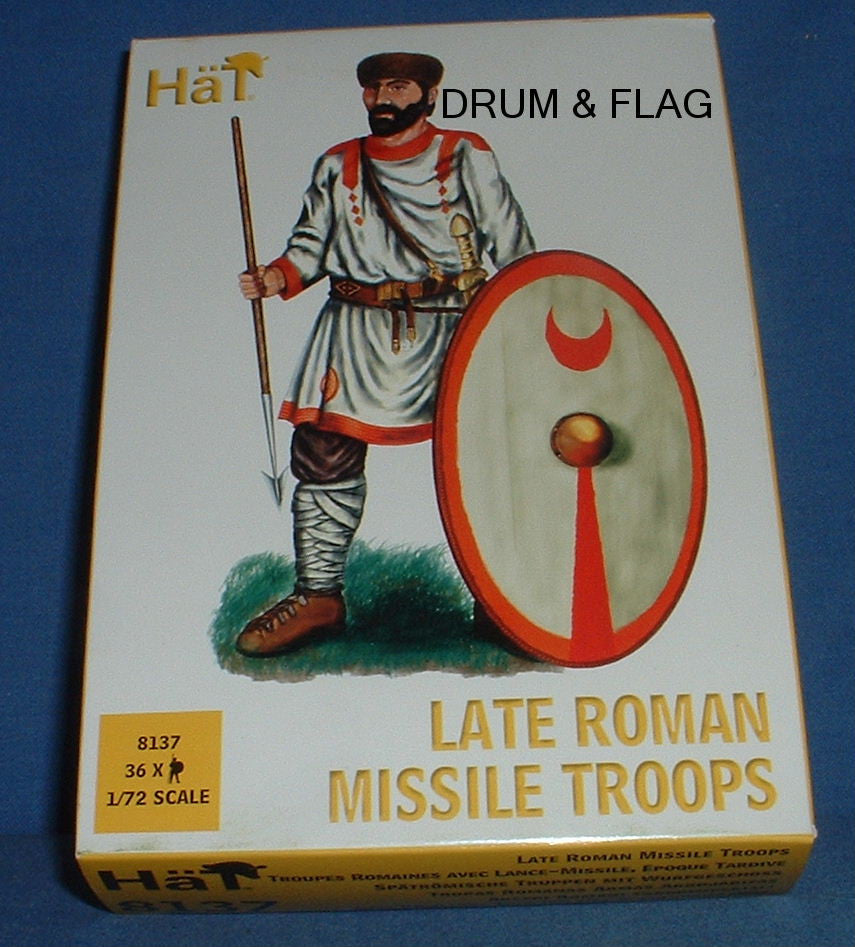 HAT 8137 LATE ROMAN MISSILE TROOPS - 1/72 SCALE PLASTIC FIGURES