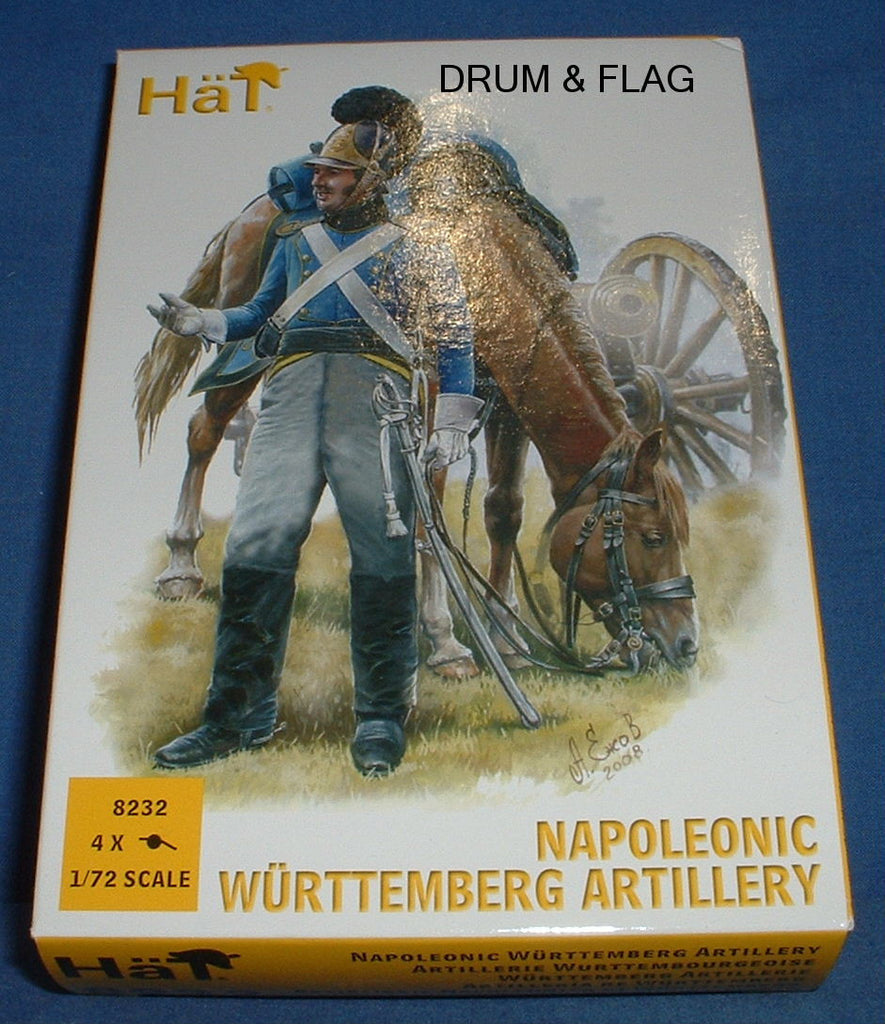 HAT 8232 NAPOLEONIC WURTTEMBERG ARTILLERY. 1/72 SCALE