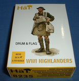 HAT 8235. WWI HIGHLANDERS. BRITISH SCOTTISH INFANTRY. 1/72 SCALE. 32 FIGURES