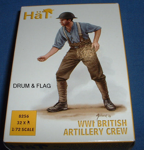 HAT 8256 WW1 BRITISH ARTILLERY CREW. 1/72 SCALE