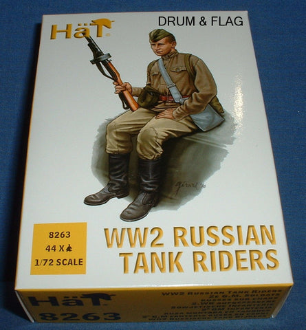 HAT 8263. WW2 RUSSIAN TANK RIDERS. 1/72 SCALE. 44 FIGURES