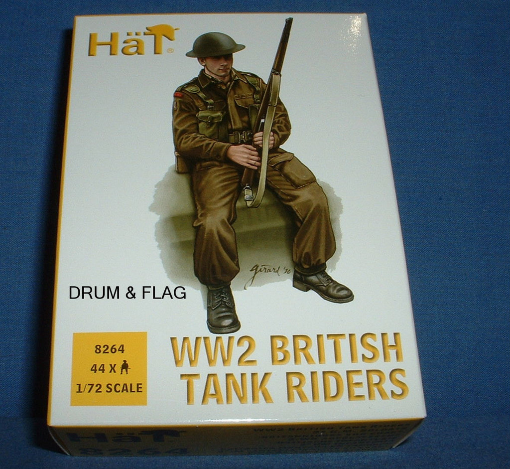 HAT 8264. WW2 BRITISH TANK RIDERS. 1/72 SCALE. 44 FIGURES