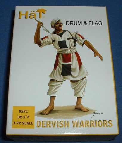 HAT 8271. DERVISH WARRIORS. SUDANESE. 1/72 SCALE. 32 FIGURES