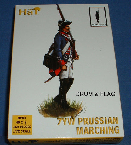 HAT 8280 PRUSSIAN INFANTRY MARCHING. SEVEN YEARS WAR. 1/72 SCALE. 40 FIGURES