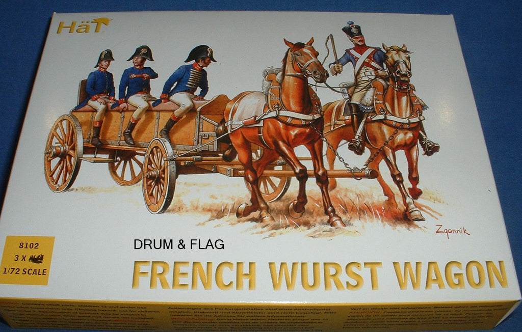 HAT 8102 - FRENCH WURST WAGON - 1/72 SCALE PLASTIC