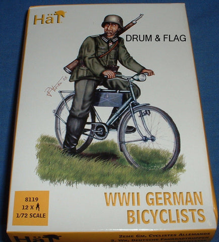 HAT 8119 - WW2 GERMAN BICYCLISTS - 1/72 SCALE PLASTIC