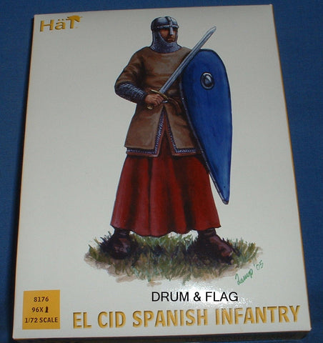 HAT 8176 EL CID SPANISH INFANTRY - 1/72 SCALE PLASTIC