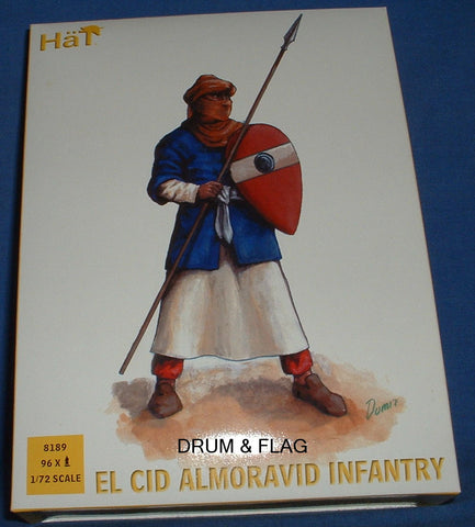 HAT 8189 EL CID ALMORAVID INFANTRY - 1/72 SCALE PLASTIC. Original Box