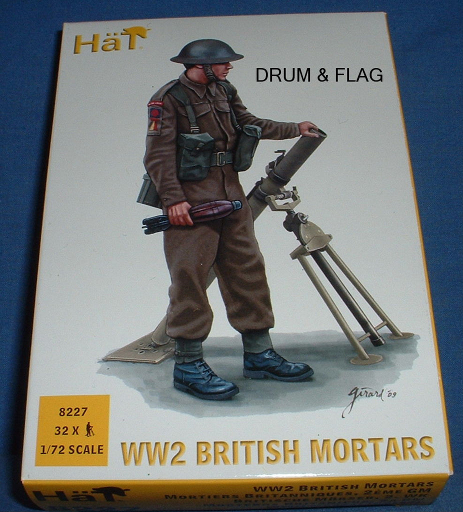 HAT 8227 - WW2 BRITISH MORTARS - 1/72 SCALE PLASTIC