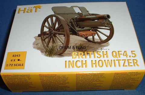 HAT 8243 WW1 BRITISH QF 4.5 INCH HOWITZER. 1/72 SCALE