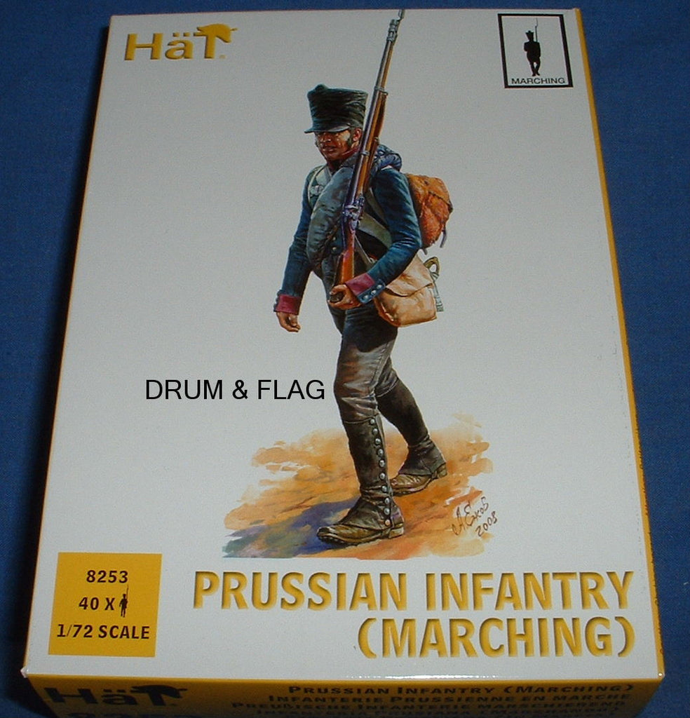 HAT 8253 - NAPOLEONIC PRUSSIAN INFANTRY (MARCHING) - 1/72 SCALE PLASTIC