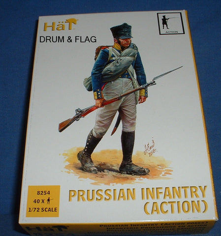 HAT 8254 - NAPOLEONIC PRUSSIAN INFANTRY (ACTION) - 1/72 SCALE PLASTIC