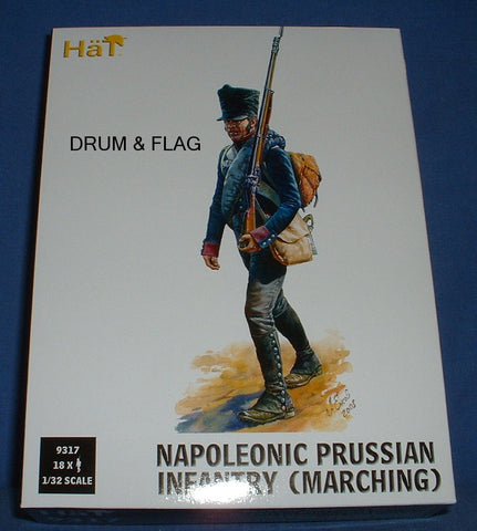 HAT 9317 - PRUSSIAN INFANTRY MARCHING 1/32 SCALE X 18 FIGURES. 54MM
