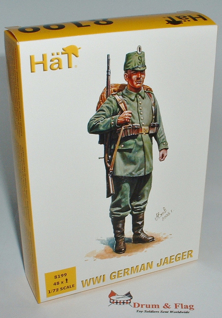 HAT 8199  WW1 GERMAN JAEGER. 1/72 SCALE 48 FIGURES
