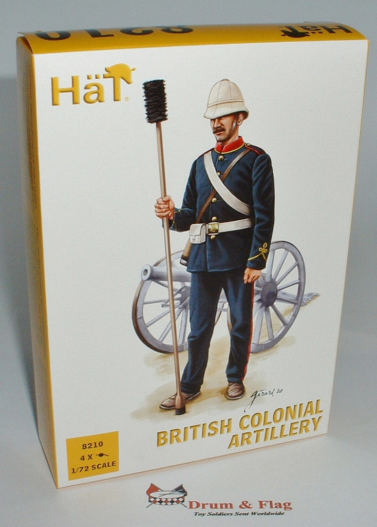 HAT 8210 - BRITISH COLONIAL ARTILLERY - 1/72 SCALE