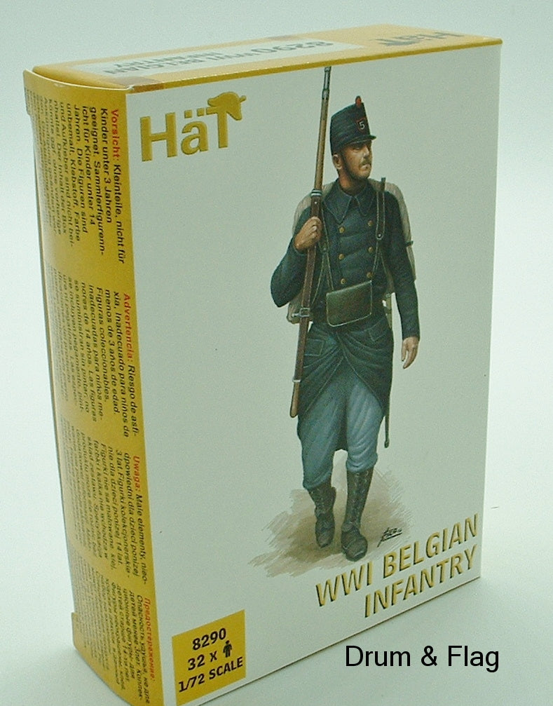 HaT 8290 WW1 Belgian Infantry 1/72 scale. 32 Figures