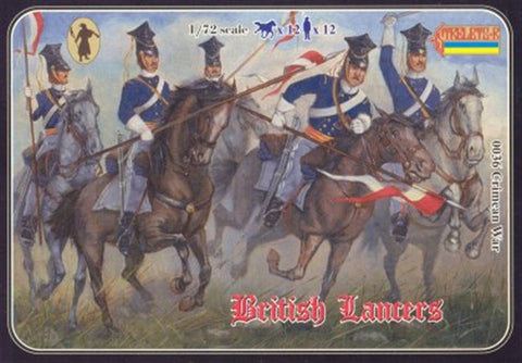Strelets Set #36 - Crimean British Lancers. 1/72 Scale Plastic Figures