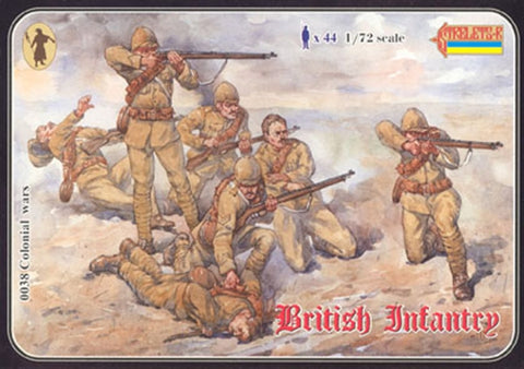 Strelets Set #38 - British Infantry. (1898-1902). 1/72 Scale Plastic Figures