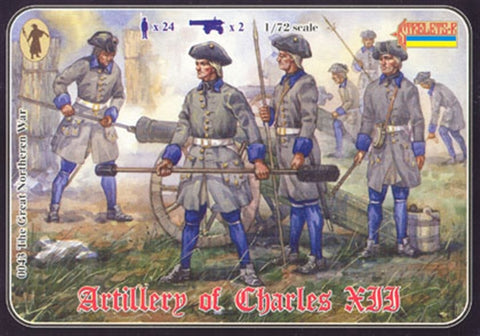 Strelets Set 43 - Artillery of Charles XII. 1/72 Scale Plastic Figures