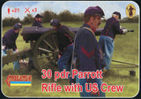 Strelets Set 182 - 30 Pdr Parrot Rifle with US Crew - ACW Union Artillery - 1/72 Scale Plastic Figures
