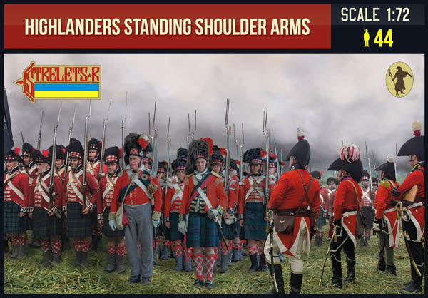 Strelets 199 Napoleonic Highlanders Standing Shoulder Arms. 1/72 Scale