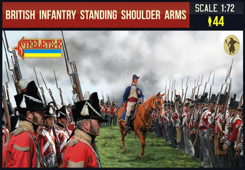Strelets 202 Napoleonic British Infantry Standing Shoulder Arms. 1/72 Scale