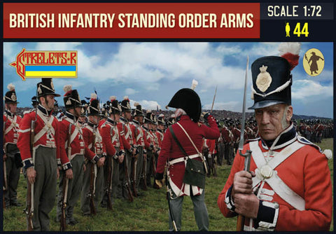 Strelets 201 Napoleonic British Infantry Standing Order Arms. 1/72 Scale