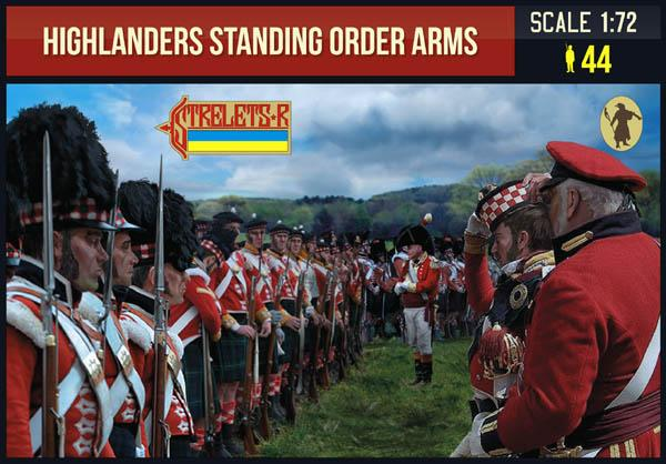 Strelets 200 Napoleonic Highlanders Standing Order Arms. 1/72 Scale