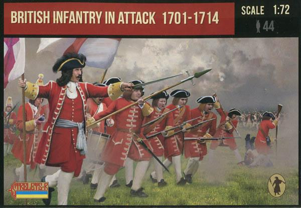 Strelets #231 - British Infantry in Attack 1701-1714 War of Spanish Succession. 1/72 Scale