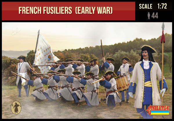 Strelets #236 - French Fusiliers. (Early War) War of Spanish Succession. 1/72 Scale.