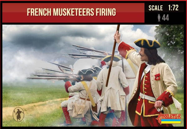 Strelets #234 - French Musketeers Firing. War of Spanish Succession. 1/72 Scale.