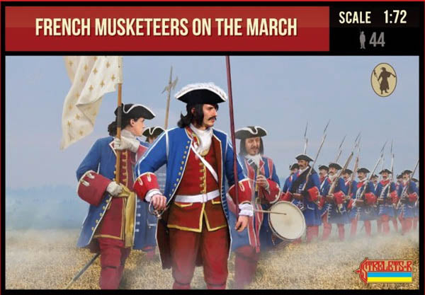 Strelets #233 - French Musketeers on the March. War of Spanish Succession. 1/72 Scale