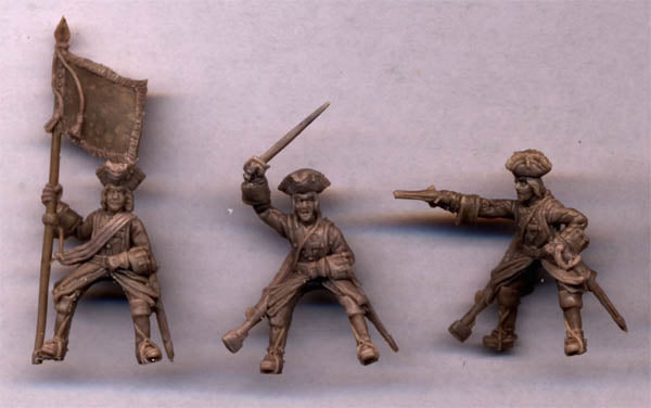 Strelets 242 - French Musketeers of the Guard. War of Spanish Succession. 1/72 Scale. FUTURE SET