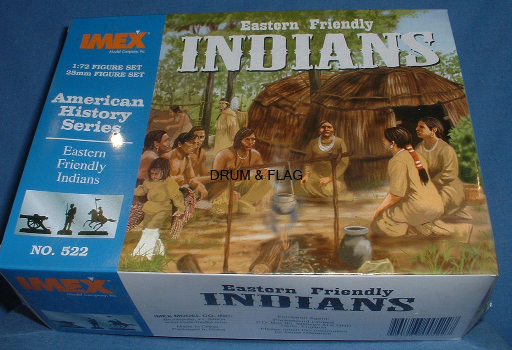 IMEX 522. EASTERN FRIENDLY INDIANS . 1:72 SCALE FIGURES.