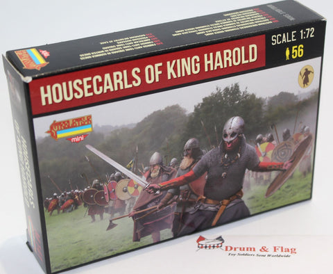 STRELETS M 141.  HOUSECARLS OF KING HAROLD. ANGLO-SAXONS.  1/72 SCALE.